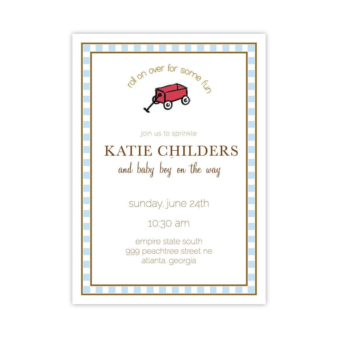 Roll Over for Fun Baby Shower Invitation