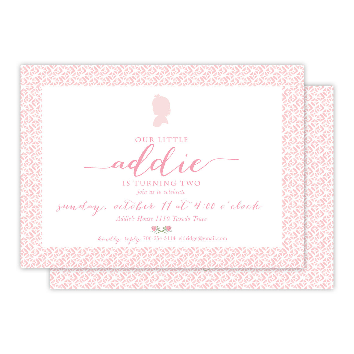 Pretty Pink Birthday Party Invitation
