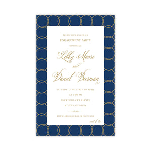 Navy Engagement Party Invitation