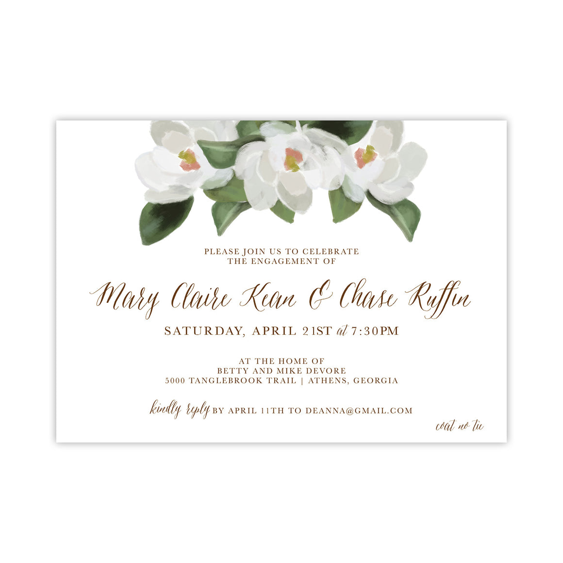 Magnolia Engagement Party Invitation
