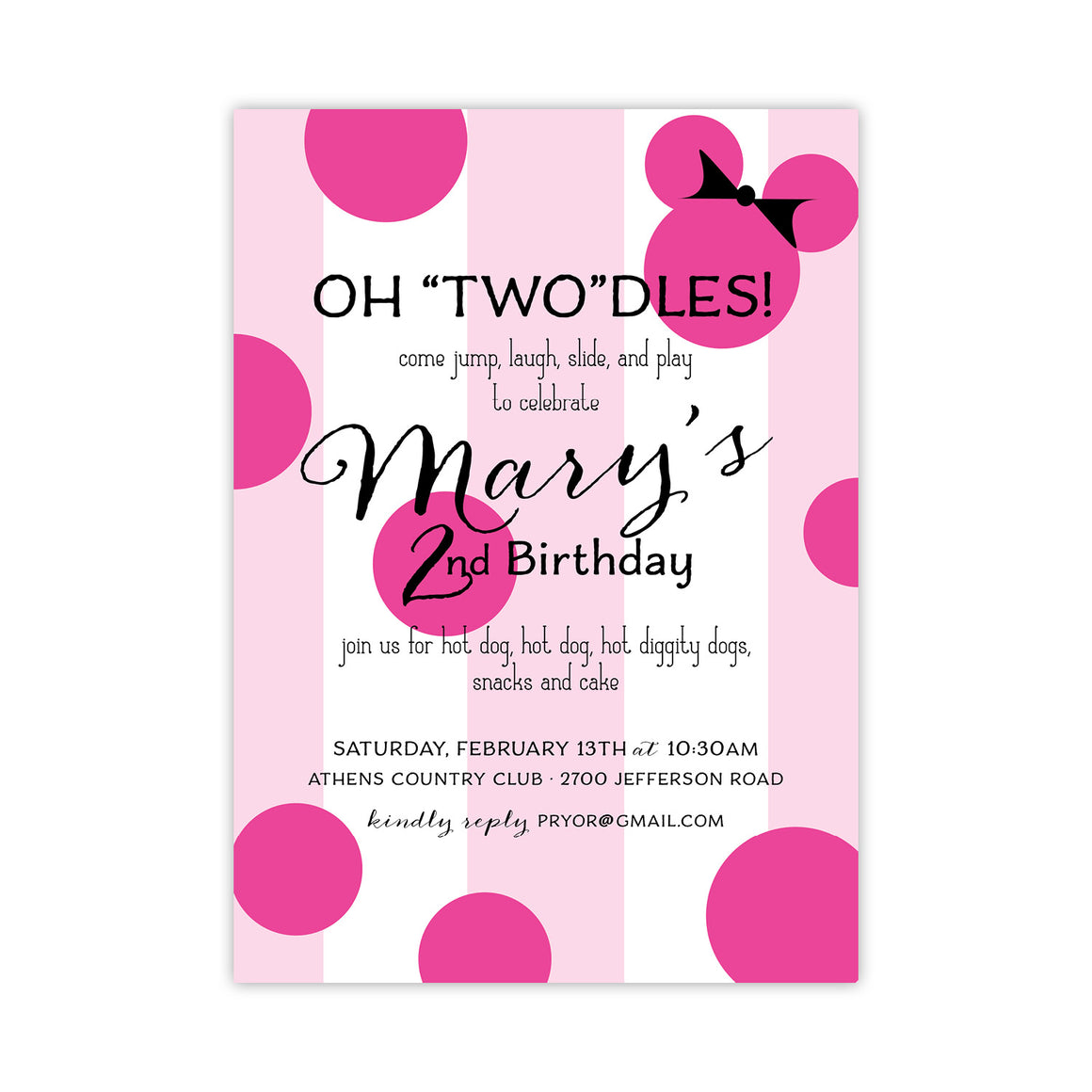"""Two""dles Birthday Party Invitation"