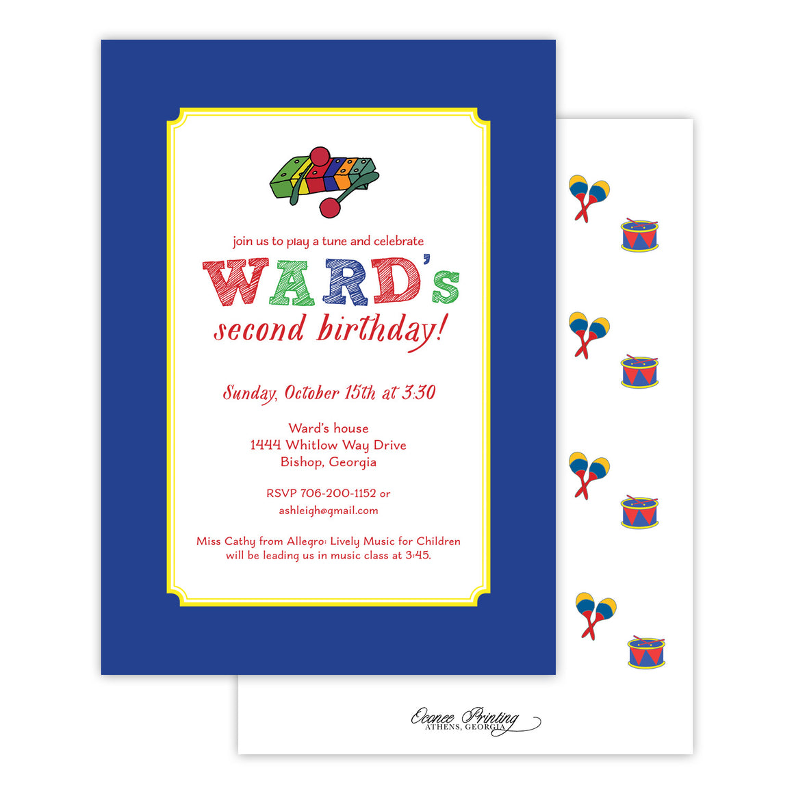 Musical Birthday Party Invitation