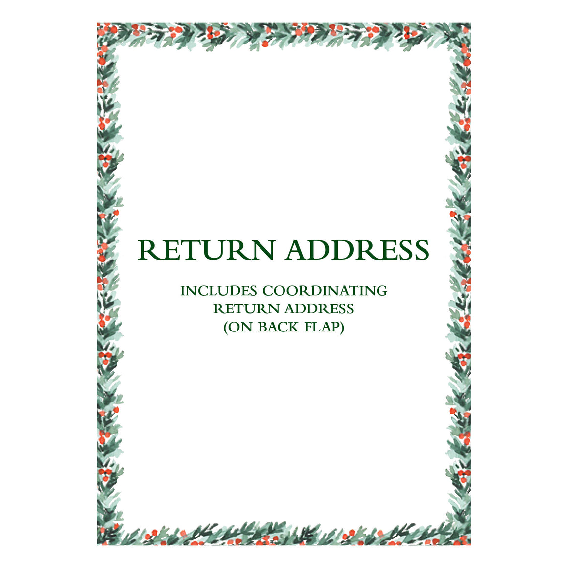 Return Address Printing On Back Flap