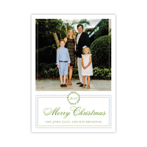 Holly & Berry Blue Holiday Card