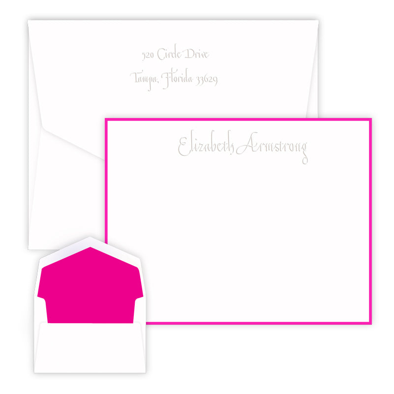 Embossed Outlined Note Cards
