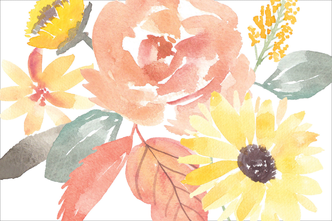 Watercolor Autumn Floral Placemats