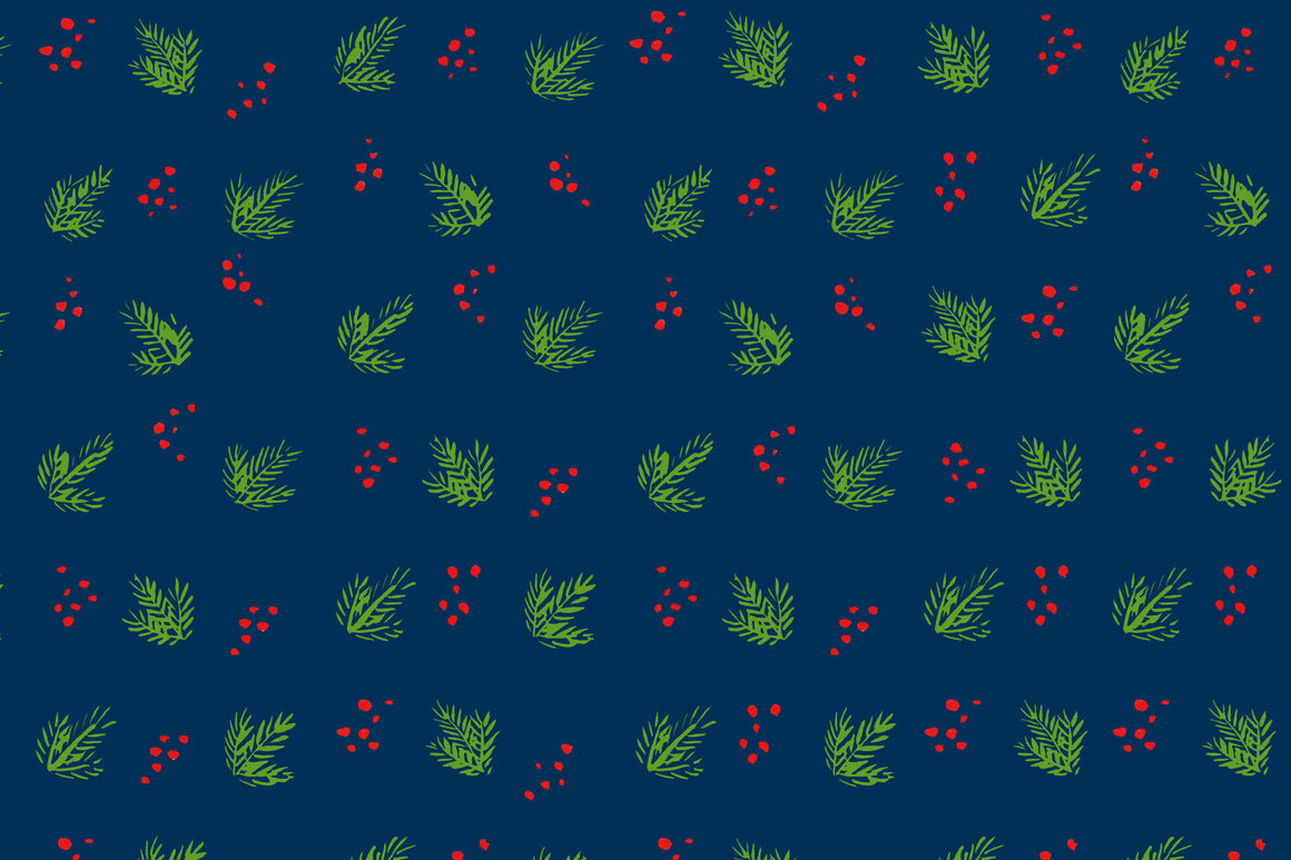 Navy Holly Berry Placemats