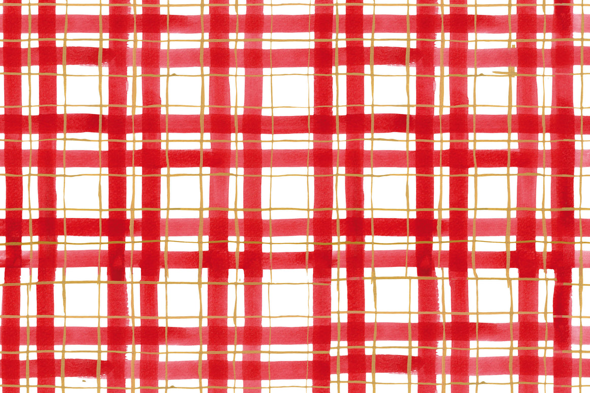 Red and Gold Plaid Placemats
