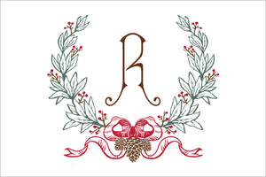 Christmas Pine Monogram Placemats