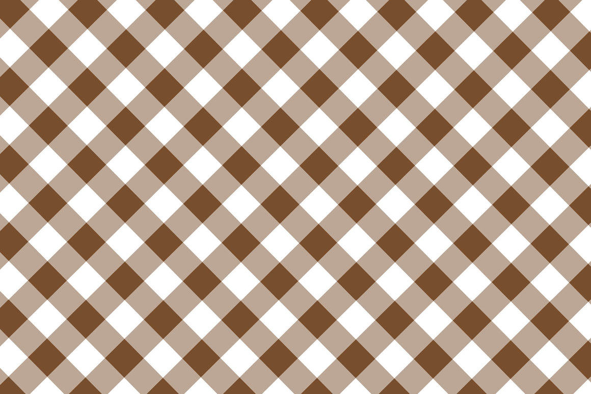 Brown Gingham Placemats