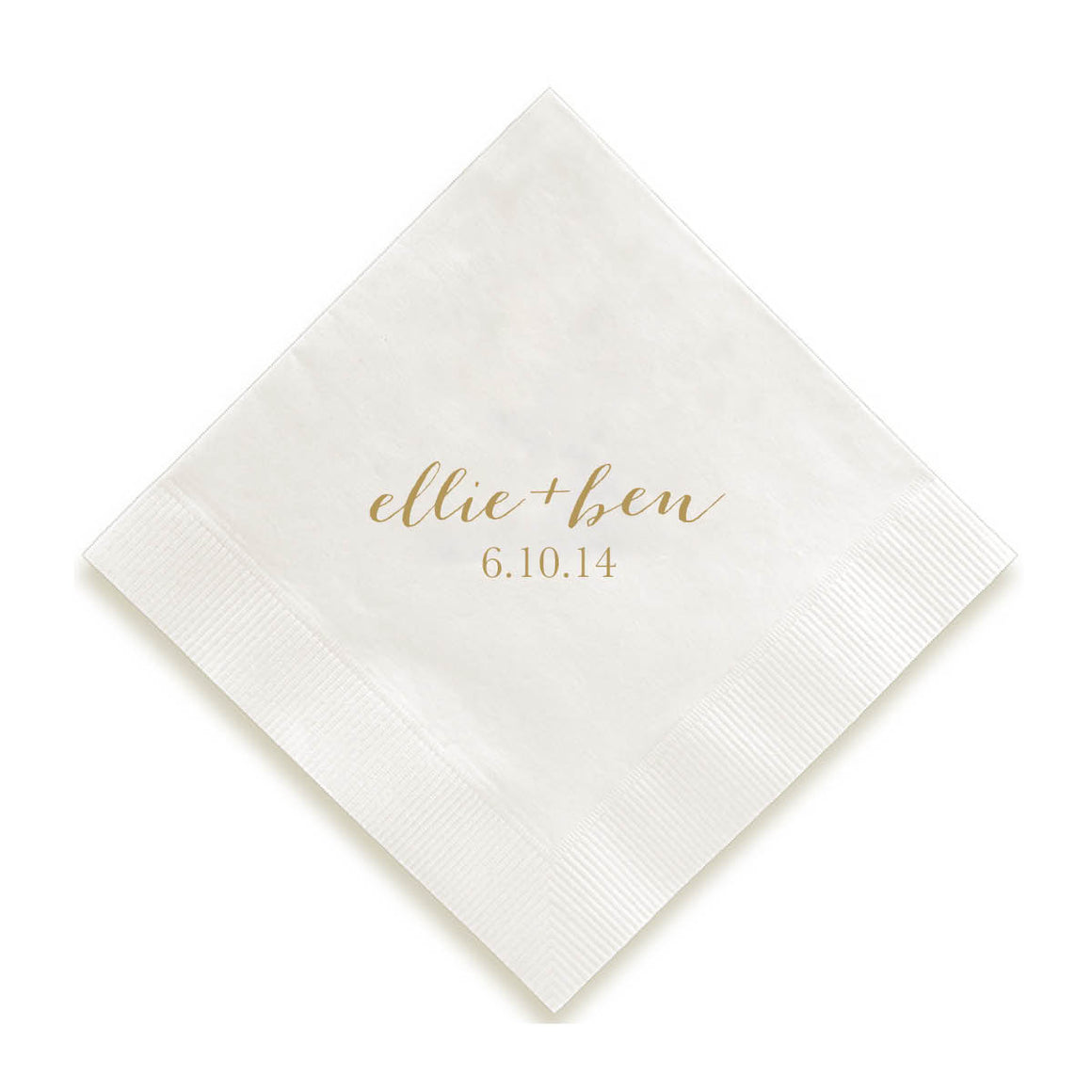 Calligraphy Names Foil Pressed Napkins
