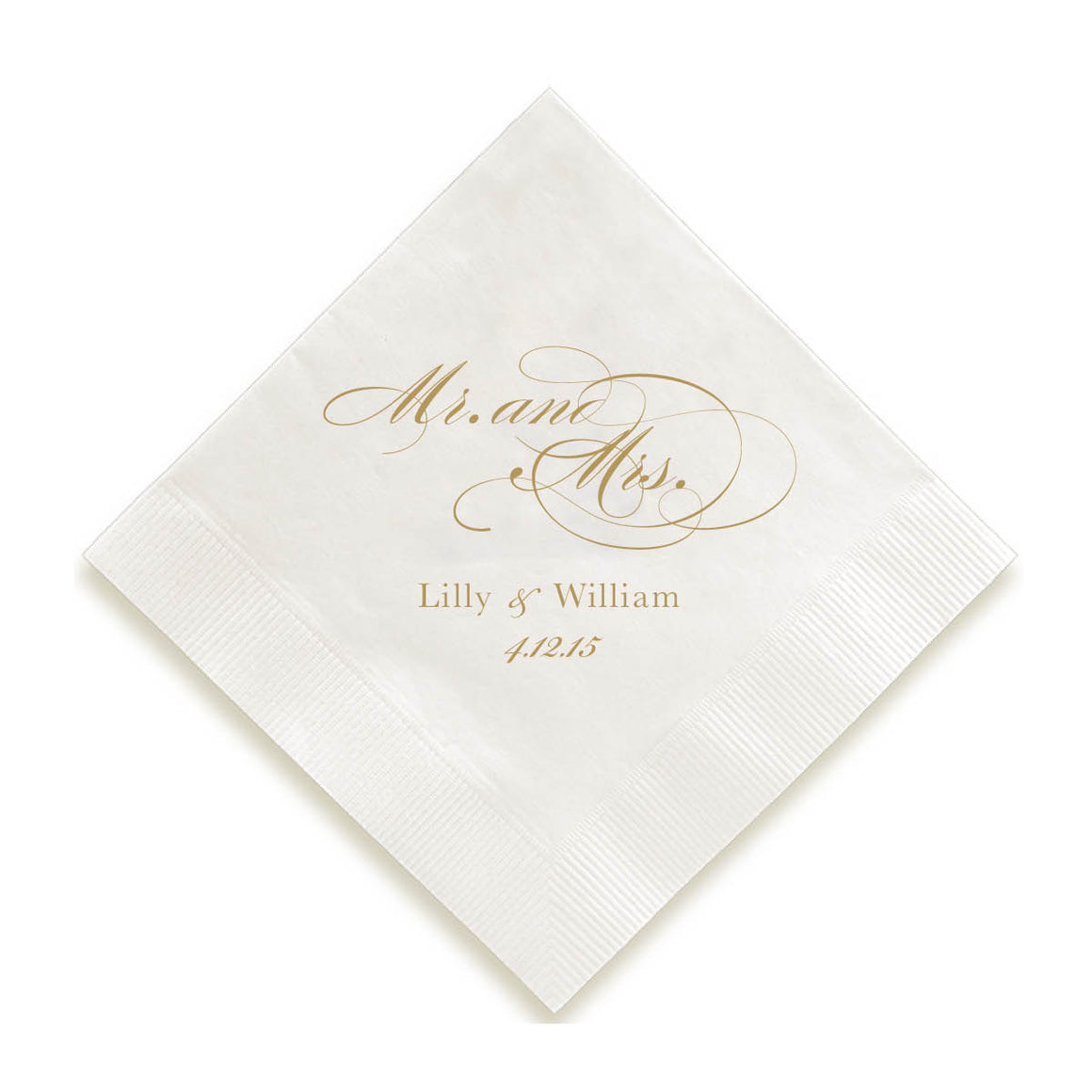 Mr. and Mrs. Foil Pressed Napkins