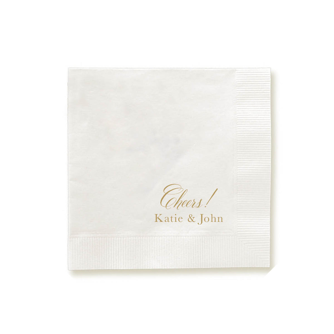 Cheers!  Personalized Foil Pressed Napkins