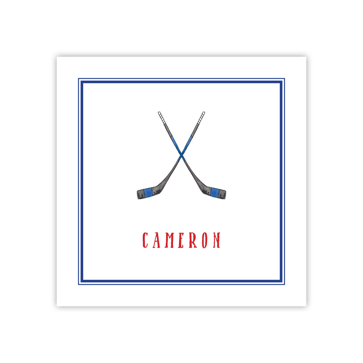 Hockey Enclosure Card