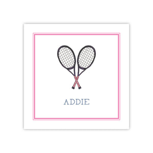 Tennis Raquets Enclosure Card