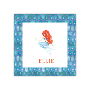 Red Head Mermaid Enclosure Card