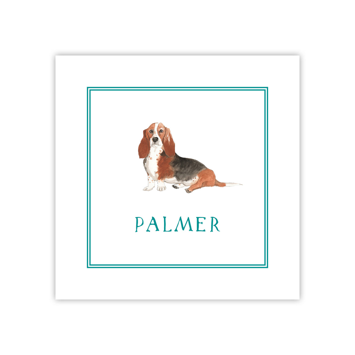 Bassett Hound Enclosure Card