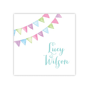 Party Flags Enclosure Card