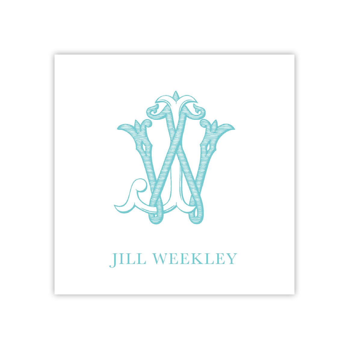 Vintage Monogram Enclosure Card