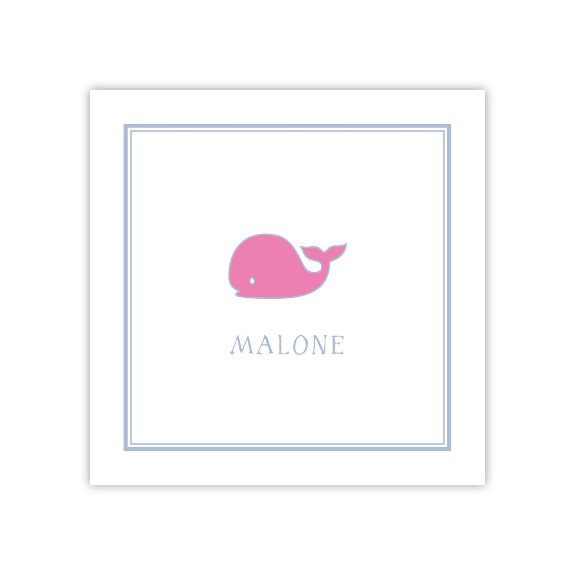 Pink Whale Enclosure Card