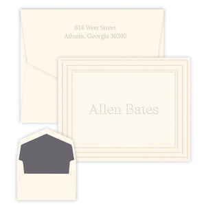 Embossed Formal Monogram Stationery