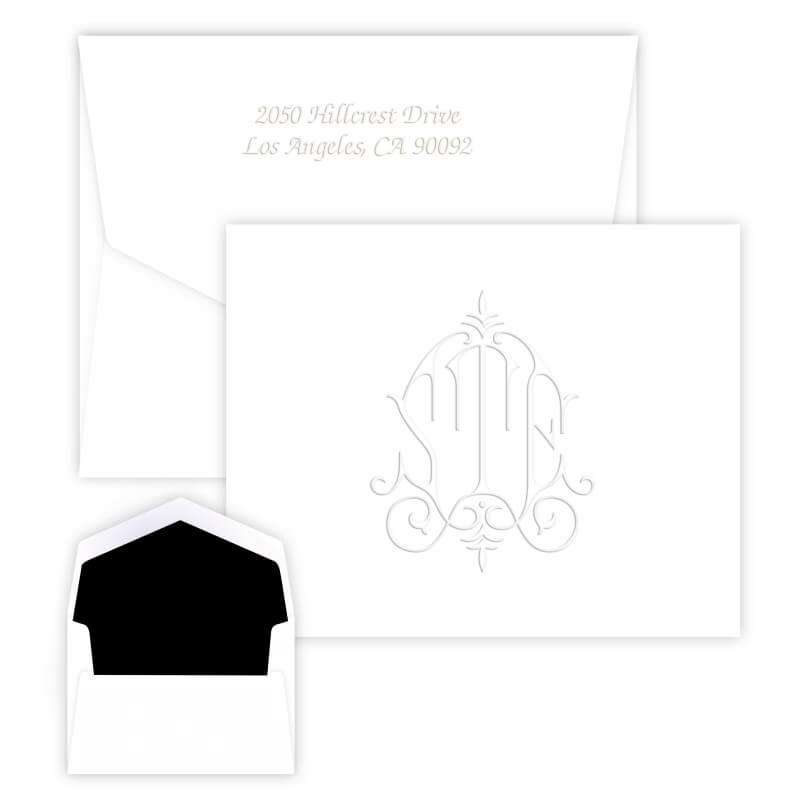 Embossed Elegant Monogram Stationery
