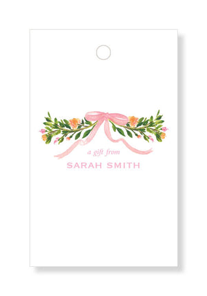 Ribbon and Fleur Gift Tags