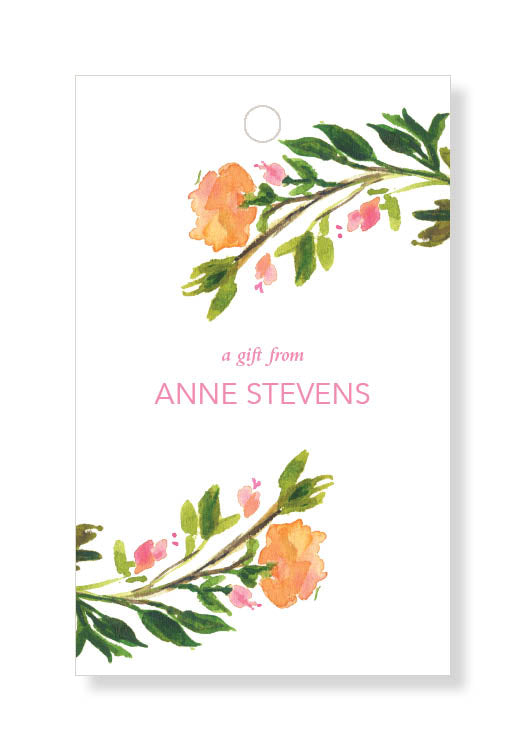 Sunset Rose Gift Tags