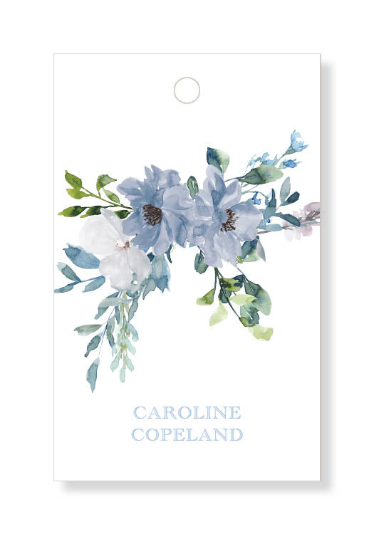 Blue Floral Gift Tags
