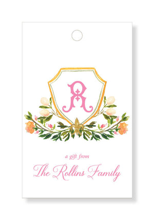 Rose Garden Crest Gift Tags