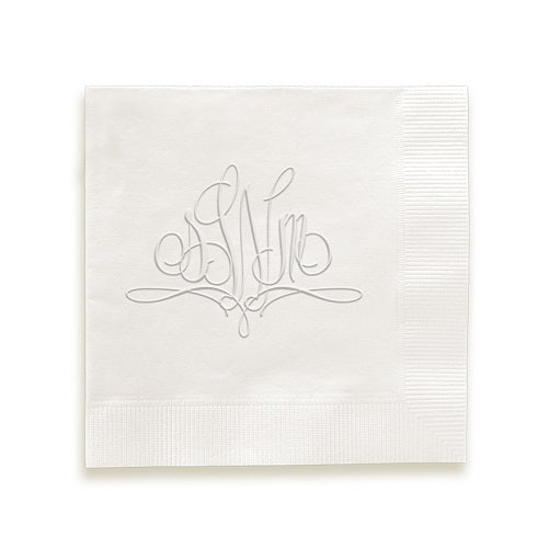 Flourish Monogram Embossed Napkins