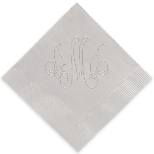 Lowercase Monogram Embossed Napkins