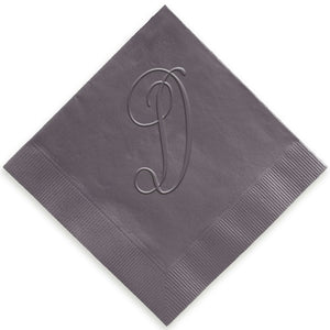 Single Initial Embossed Napkins