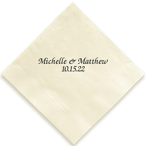 Name and Date Pressed Napkins