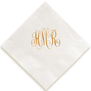 Traditional Monogram Foil Pressed Napkins