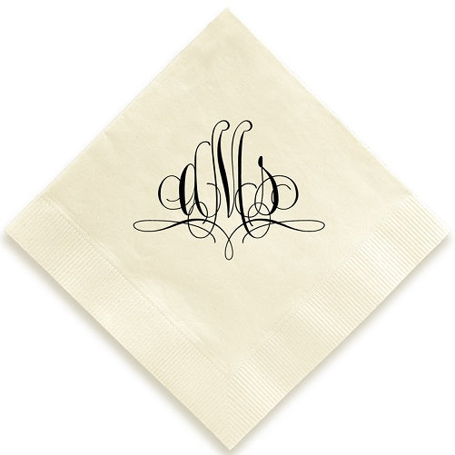 Flourish Monogram Foil Pressed Napkins