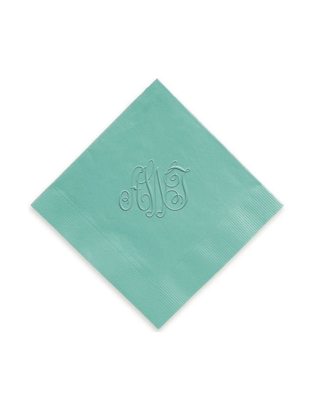 Traditional Embossed Personalized Napkins