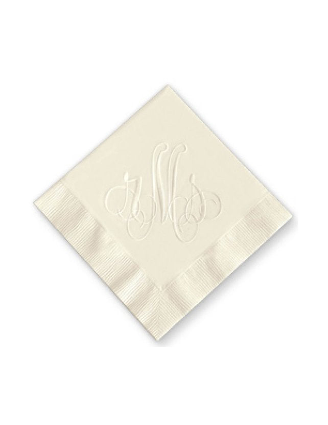 Frills Monogram Embossed Napkins