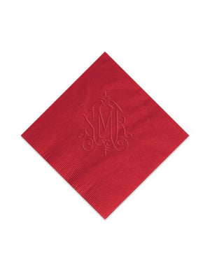 Modern Monogram Embossed Napkins