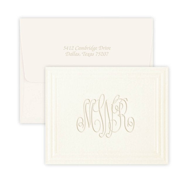 Embossed Monogram Stationery