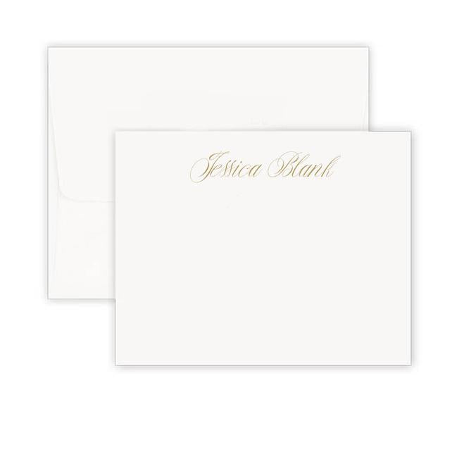 Thermography Simplistic Signature Note Card