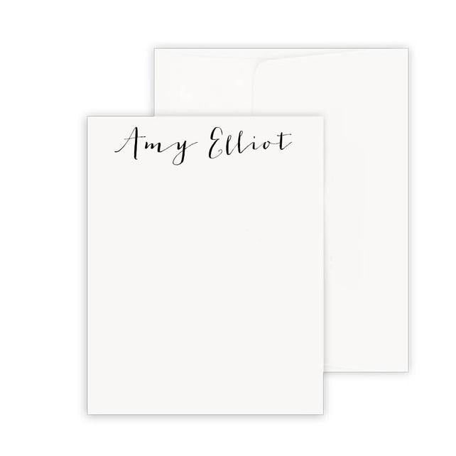 Thermography Signature Vertical Note Card