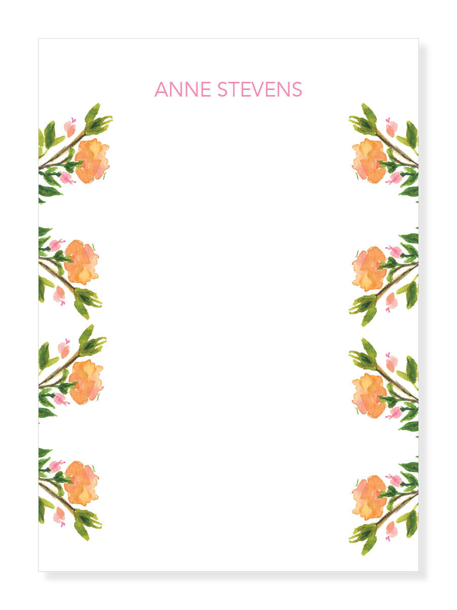 Sunset Rose Notepad