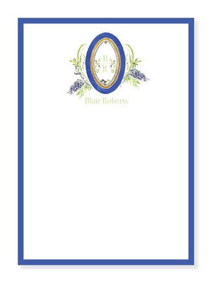 Wysteria and Blue Floral Notepad