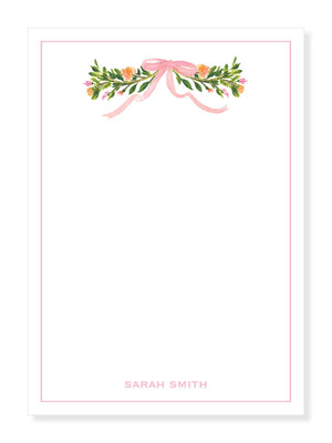 Ribbon and Fleur Notepad