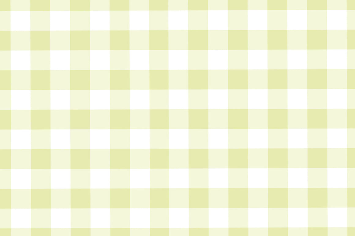 Chartreuse Gingham Placemats