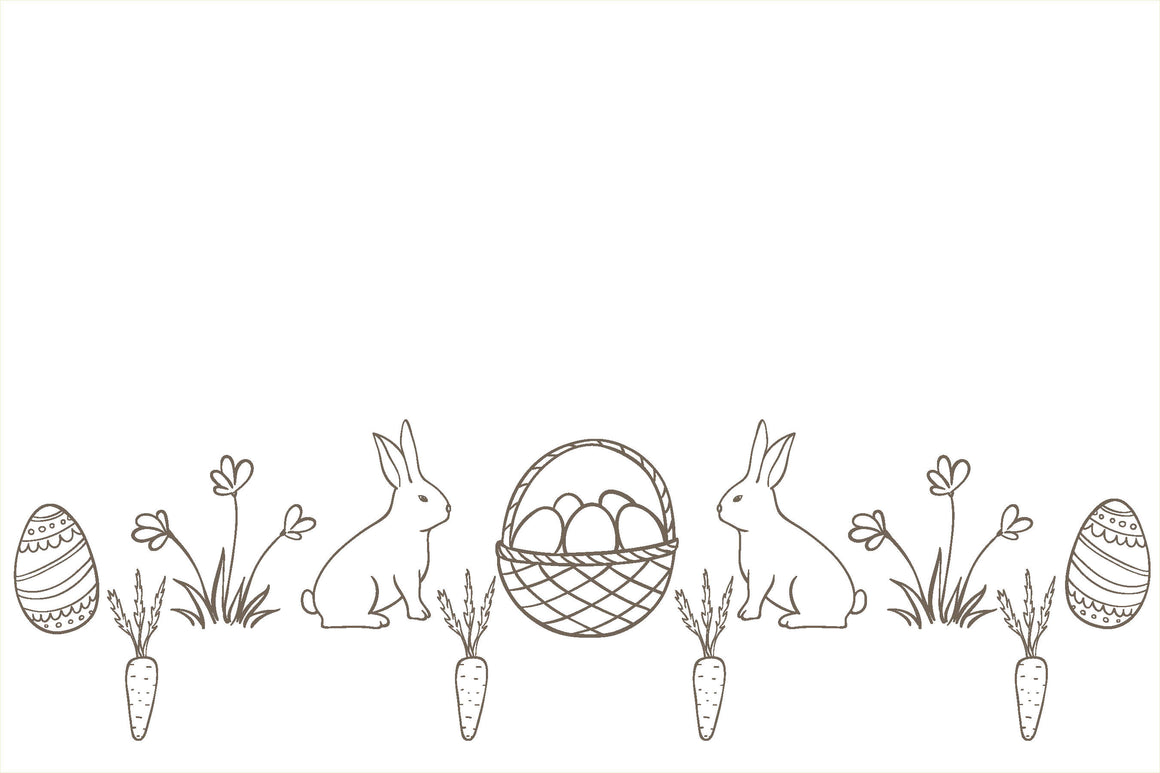 Bunnies & Easter Basket perfect for Coloring Placemats