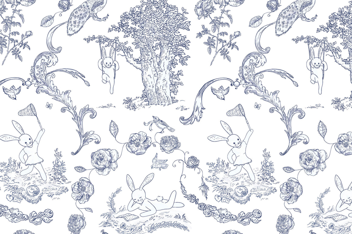 Bunny Toile Placemats