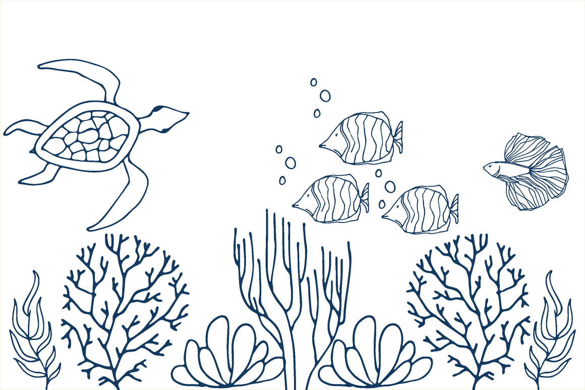 Sea Scapes perfect for Coloring Placemats