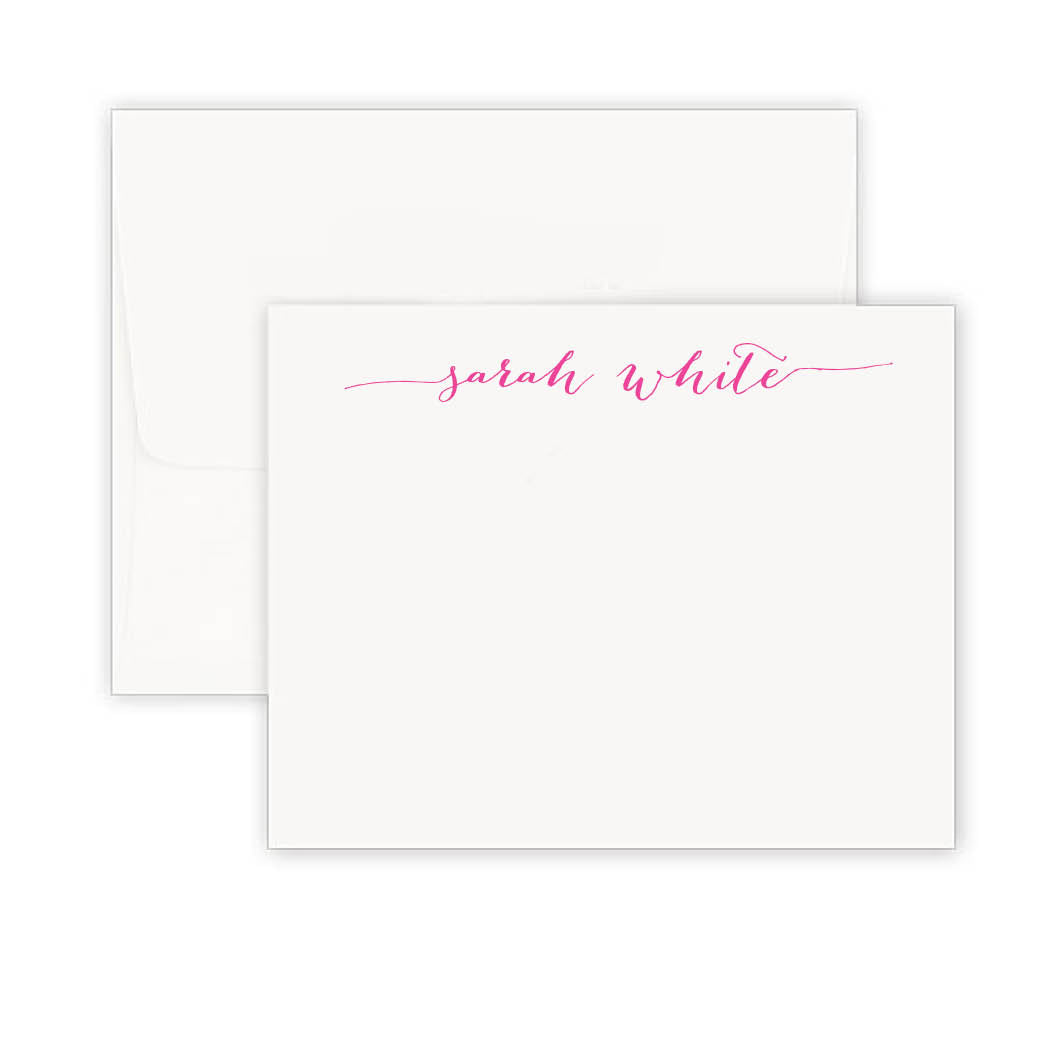 Thermography Extended Signature Titled Note Card